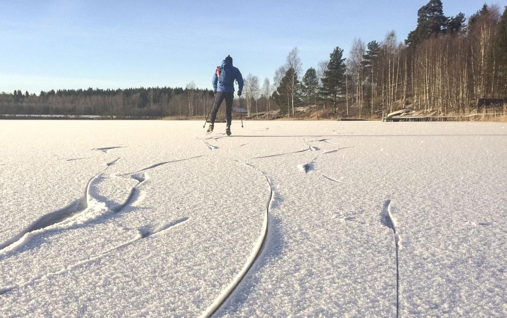Fin is på Svartskärssjön 28/12 2015